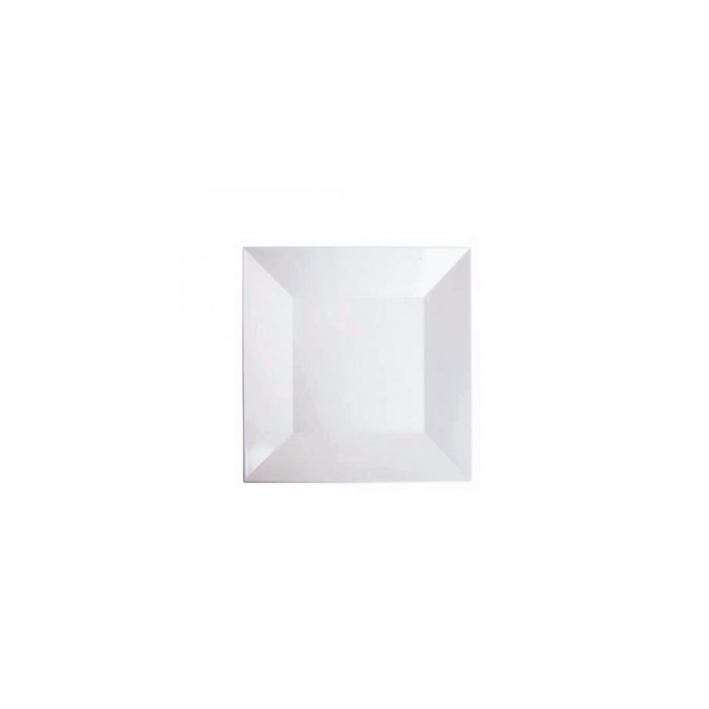 "MELAMINE WHITE SQUARE TRAY   available in: 14"", 16"""