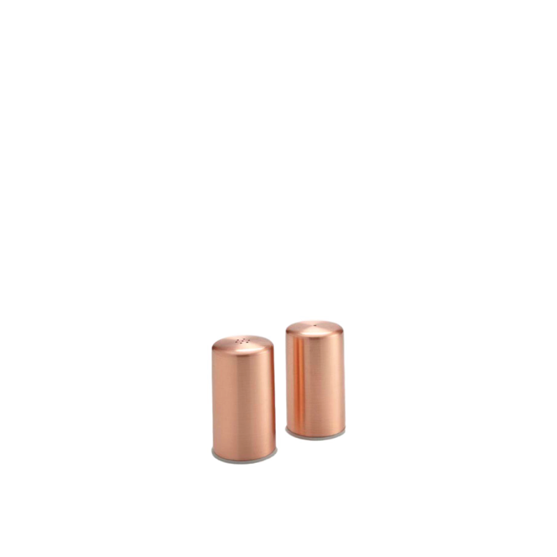 COPPER SALT & PEPPER SHAKERS
