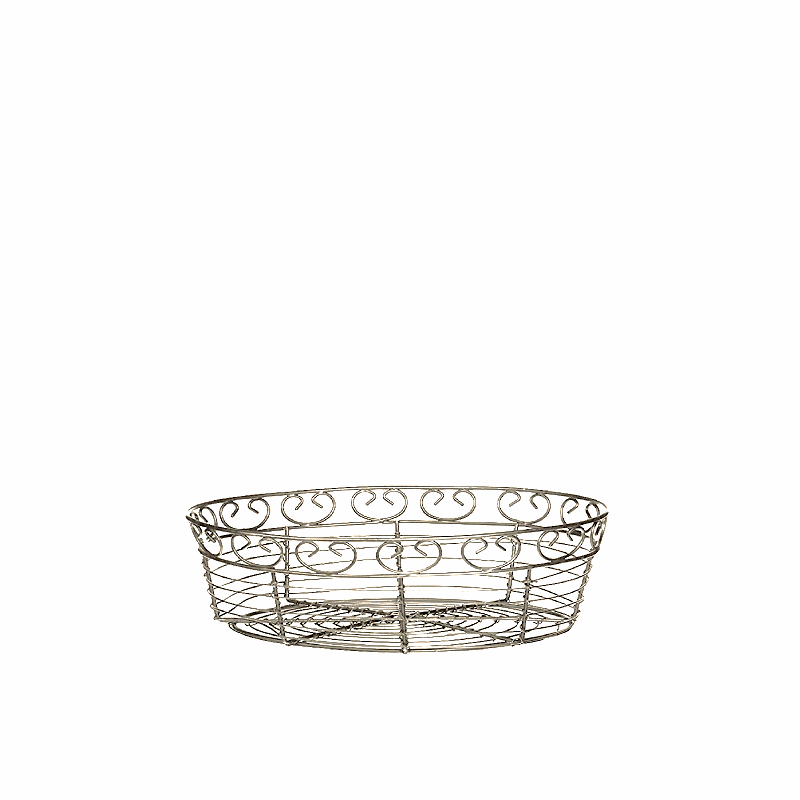 GOLD WIRE BREAD BASKET