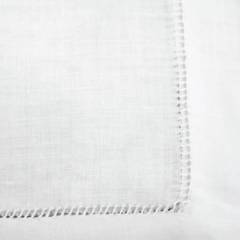 "WHITE LINEN HEMSTITCH NAPKIN   available in: 20""x20"""