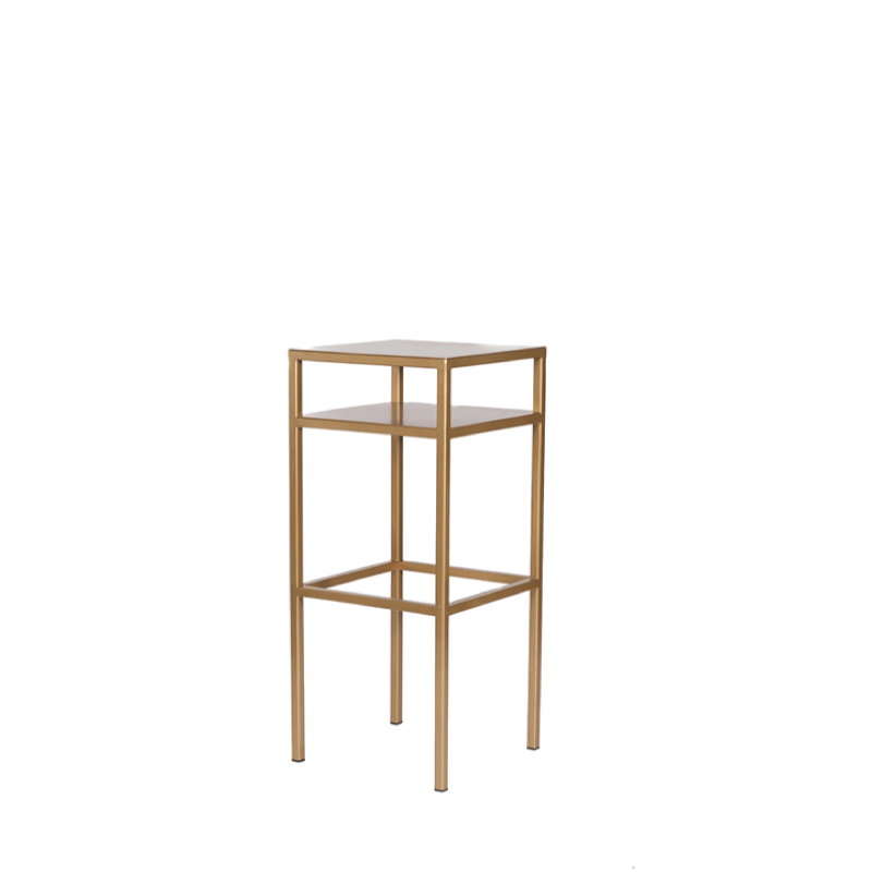 "GOLD METAL BISTRO TABLE   18""l x 18""w x 44""h"