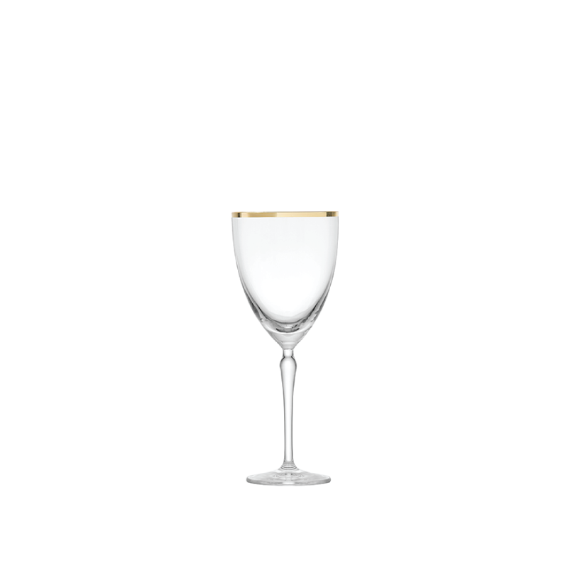 GOLD RIM RED WINE GLASS   available in: 13.7 ounce