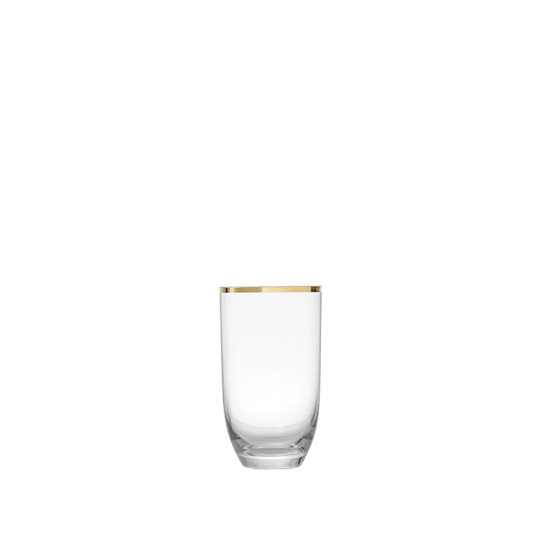 GOLD RIM ALL-PURPOSE GLASS   available in: 17 ounce