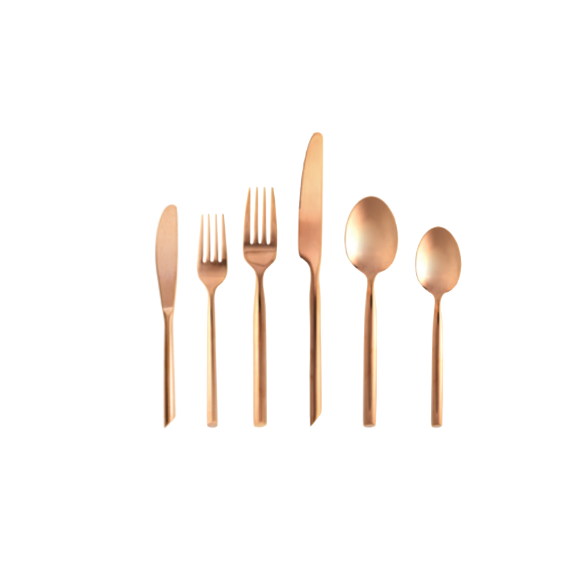 BRUSHED COPPER FLATWARE   available in: Butter Knife, Salad Fork, Dinner Fork, Dinner Knife, Dinner Spoon, Tea/Coffee Spoon