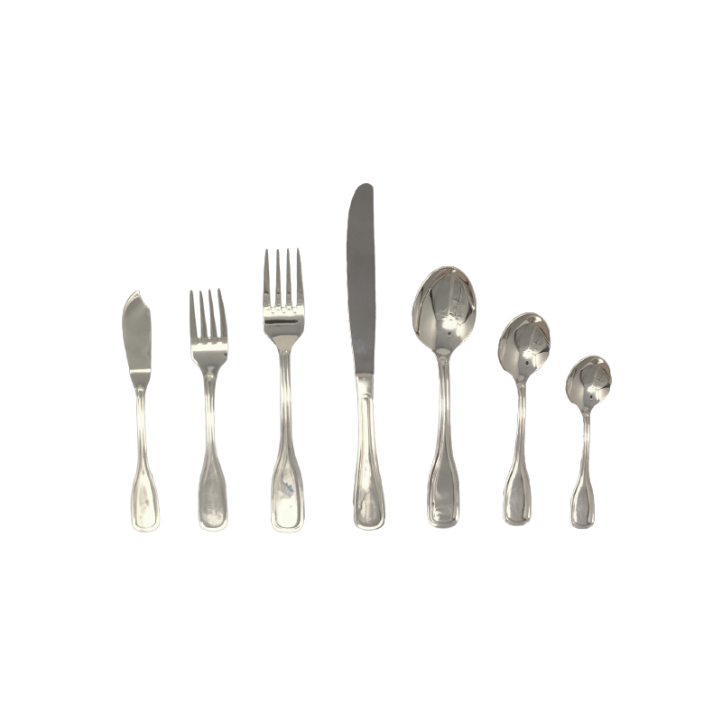 CLASSIC SILVER FLATWARE   available in: Butter Knife, Salad Fork , Dinner Fork, Dinner Knife, Table/Soup Spoon, Teaspoon, Demitasse Spoon