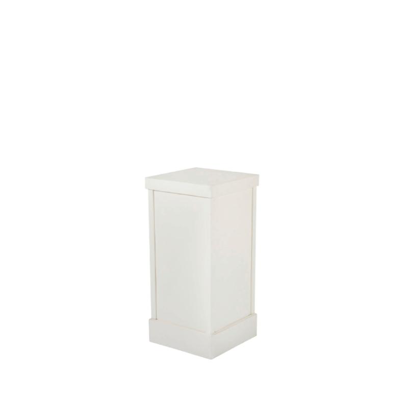 """WHITE PEDESTAL COLUMN   12""""l x 12""""w x 20""""h"""