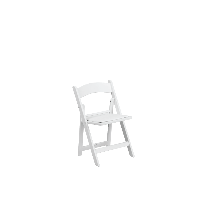 WHITE CHILDREN'S RESIN FOLDING CHAIR