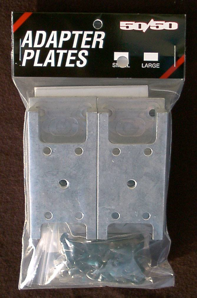 The Razors adapter plates were made out of aluminum and required the skater to drill into their boots to mount.