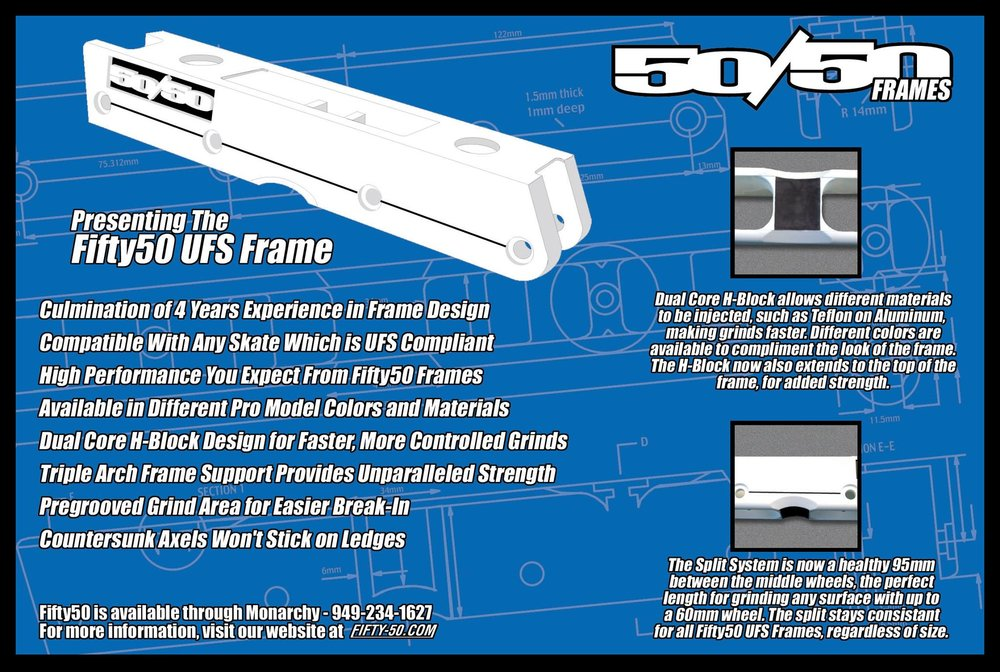 While waiting for the first UFS prototypes, we created a 3D rendered frame ad with the drawings in January 2001. This ad was never released, nor was the racing stripe or debossed logo.