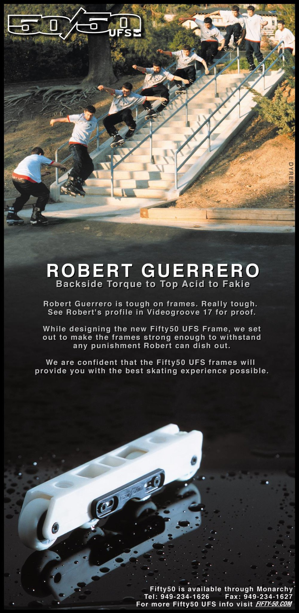 While we were making tweaks to the frames and working on the mold, this Robert Guerrero sequence ad hit right around his VG17 profile in Summer 2001.