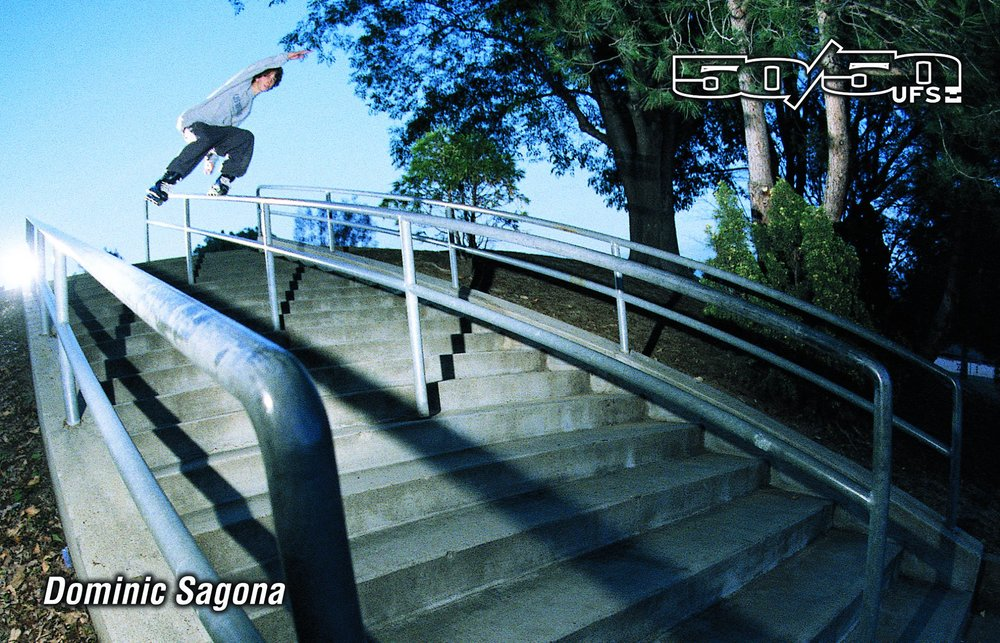 Dominic Sagona didn't get an ad for his UFS frame, since he was in the original UFS frame ad a year earlier. This was the photo we used for the frame packaging.