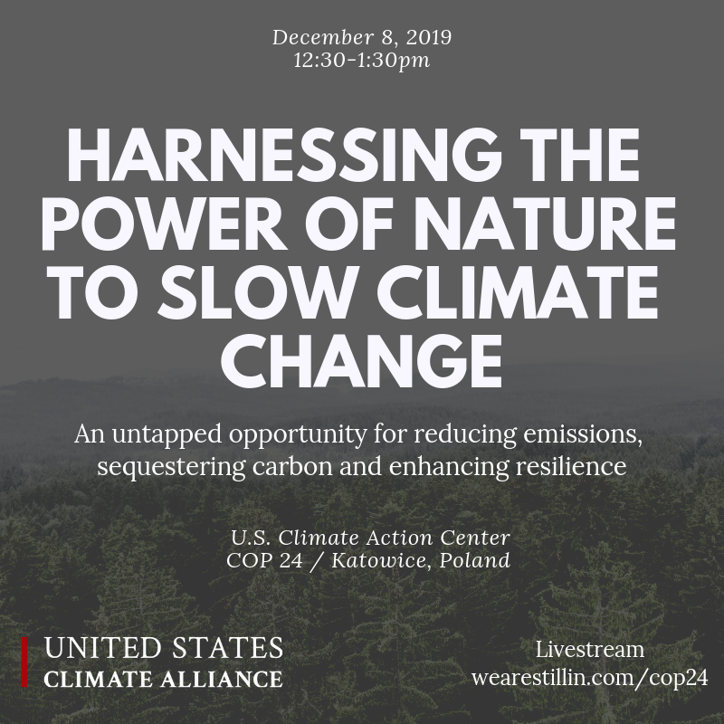 Speakers - Reed Schuler, Senior Policy Advisor to Governor Jay Inslee, Washington StateJohn Verdieck, Director of International Climate Policy, The Nature ConservancyLisa Manley, Senior Director, Sustainability Engagement and Partnerships, Mars