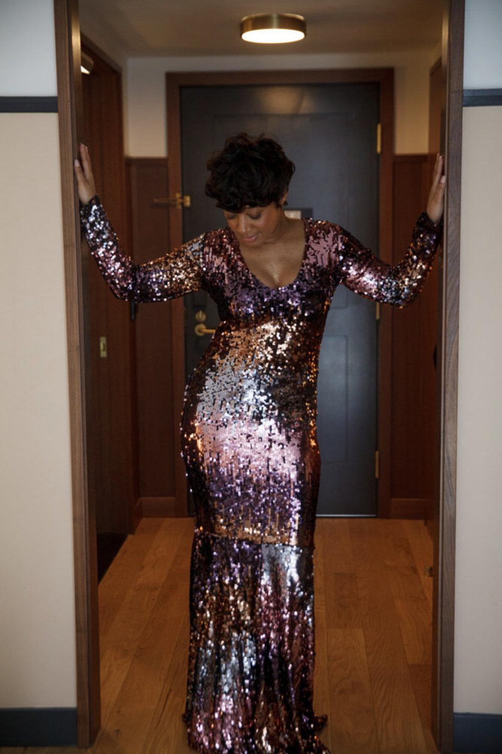 Ombre Fishtail Maxi Dress