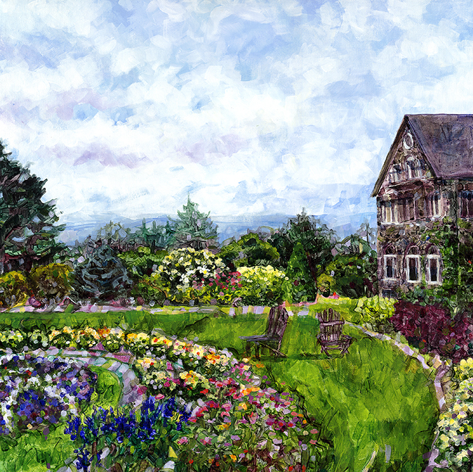 """Corner View of the Garden"""