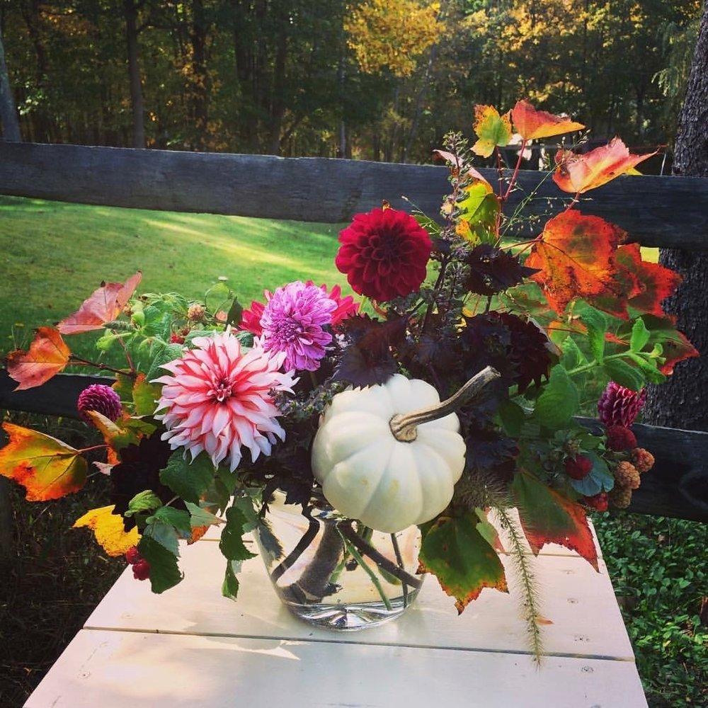 Wood and Rose | Fall Arrangements
