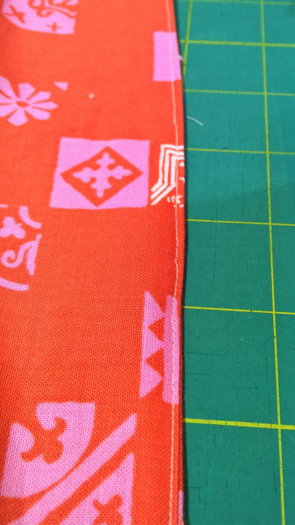 Lining sewn closed