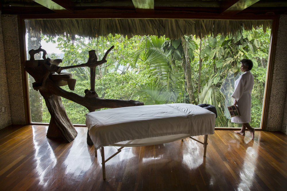 The Spa - The Copal Tree Lodge Spa is a serene sanctuary overlooking the rainforest canopy. Using only locally sourced ingredients and botanicals, each treatment is designed for relaxation and renewal. If you are seeking respite after a day of activity, or looking to address a specific concern, Copal Tree Lodge Spa has a treatment to help heal mind and body. Explore our spa treatment menu for a full range of services.