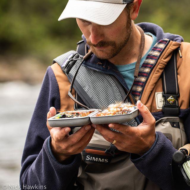 So many choices. But it's always a buck bug. // #atlanticsalmon #conservation #wildsalmon #wildrivers #findyourwater #fishneedwater #adventure #salmon #atlanticsalmonfederation #salmosalar #salmotribe #salmonfishing #flyfishing #miramichiriver #buckbugs #fishbum