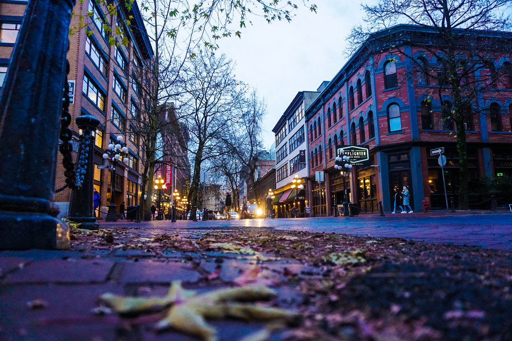 - Water Street in Gas Town, Vancouver.