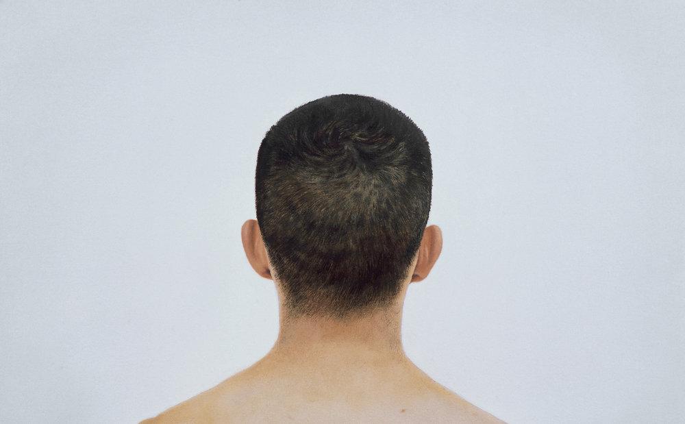 Taner Ceylan,  Portrait of Taner Ceylan 1 , Oil on Canvas, 34 cm x 54 cm, 2002.Courtesy of Taner Ceylan and Paul Kasmin Gallery.