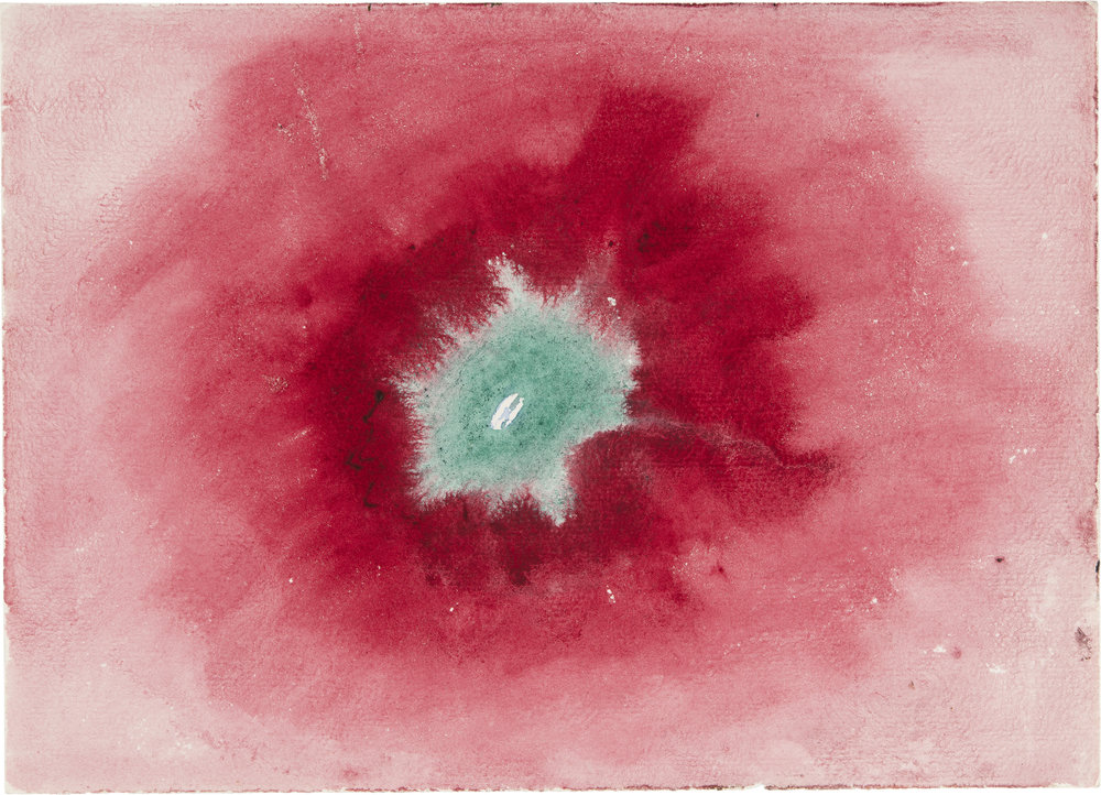 Hilma af Klint,  Untitled , 1920, from  On the Viewing of Flowers and Trees  ( Vid betraktande av blommor och träd ), Watercolor on paper, 17.9 x 25 cm, The Hilma af Klint Foundation, Stockholm, Photo: Albin Dahlström, the Moderna Museet, Stockholm.