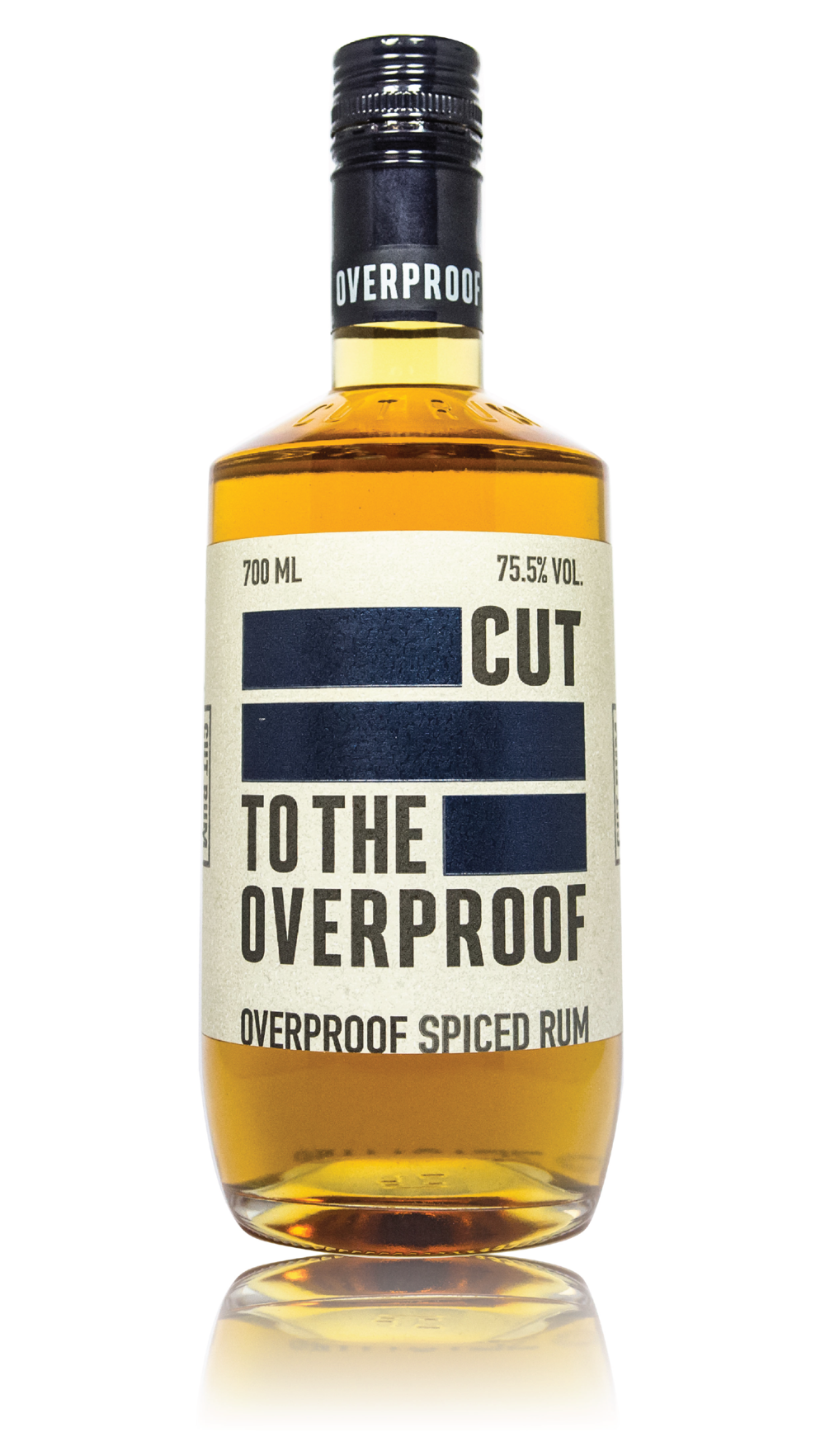 CUT OVERPROOF RUM - 151 PROOF 75.5% ABVOUR AMAZINGLY SMOOTH OVERPROOF SPICED RUM. INFUSED WITH ALL THE SAME GREAT SPICES BUT AT OVER 70% IT TAKES ON SO MANY NEW CHARACTERISTICS AND HAS A DEPTH OF FLAVOUR THAT WILL STAND UP TO ANY INGREDIENTON THE NOSE ████ WAFFLES ██████████  PANCAKES ██████████  MOTOR OILON THE TASTE VANILLA ██████  ██████ BUTTERSCOTCH ███████  COCONUT OIL ███████ CINNAMON