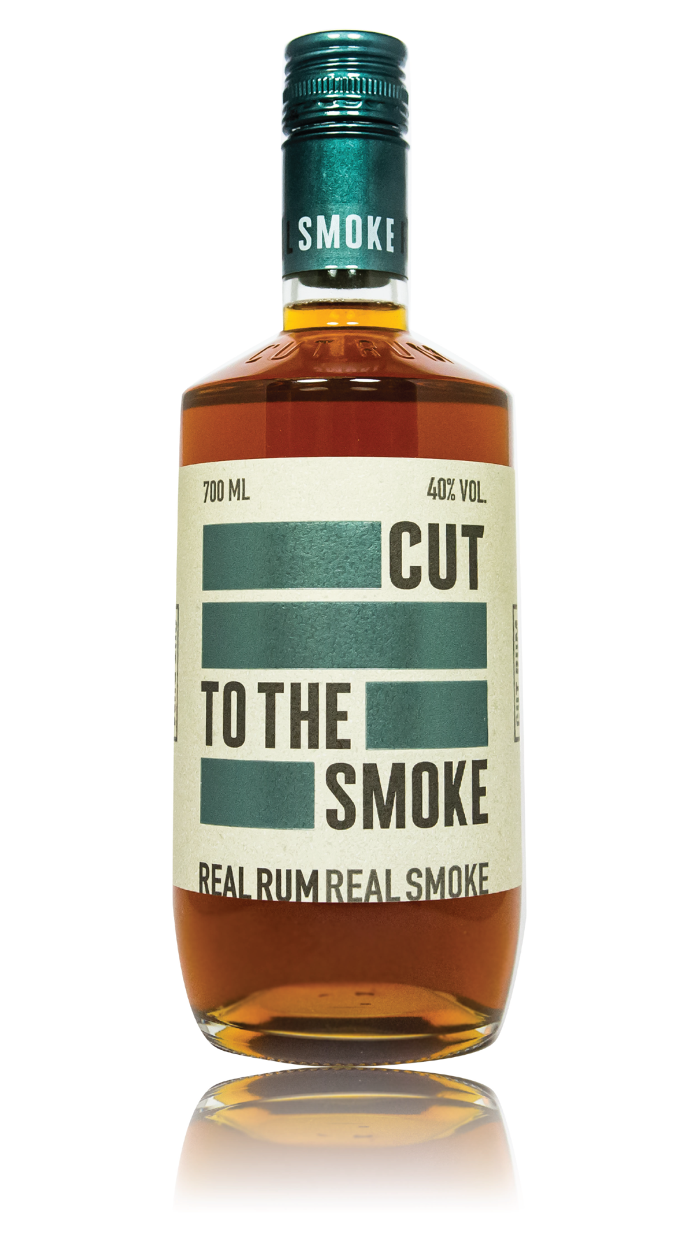 CUT SMOKED RUM - 40% ABVTHE FIRST SMOKED RUM IN THE UK. INFUSED WITH ARABICA COFFEE BEANS,SMOKED WITH BURNT WOOD CHIPS AND LEFT TO REST IN OAK BARRELS. THIS RUM IS ONE OF A KINDON THE NOSECOFFEE █████ COCOA NIB ████ █████ OAKED VANILLA ███ PIPE TOBACCO ████████ ON THE TASTE█████ BROWN SUGAR ██████ LEATHER ██████ CHARRED WOOD ███████ MATCHSTICK SMOKE