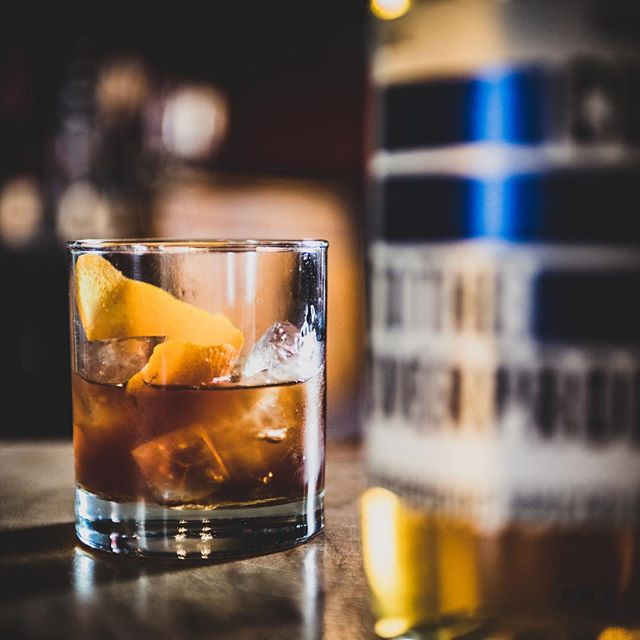 OVERPRROOF SPICED RUM ~~~ Stirred down with some #maplesyrup and #fernetbranca  Introducing the UPPERCUT  50ml Cut Overproof Rum  25ml Fernet Branca 10ml Maple Syrup  This thing means business  #instagood #overproofrum #spicedrum #tasty #strong #insta #picoftheday #rum #drinksome