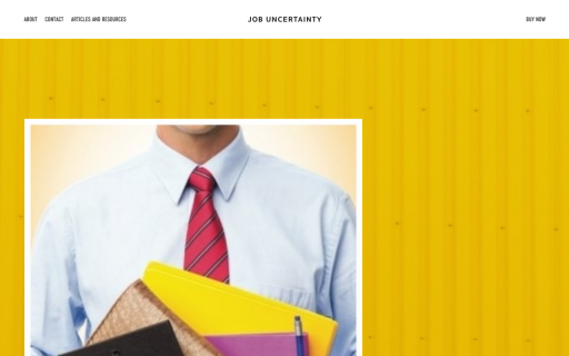 Job Uncertainty - Built on Squarespace.