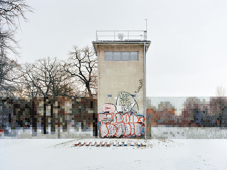 Former Guard Tower Off Puschkinallee, Hand Sewn Archival Ink Jet Print, 2013