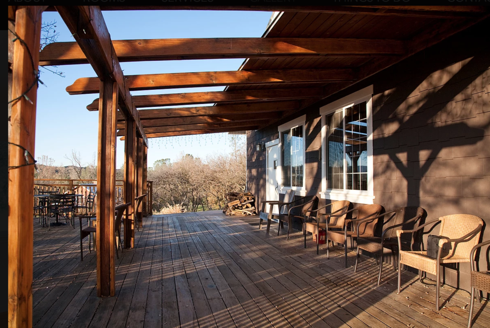 Patio from which to view 163 acre ranch