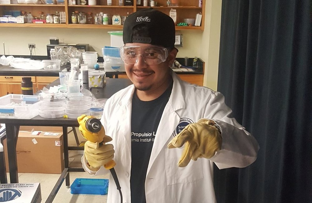 Jesse Torres - Jesse is studying Engineering at Santa Monica Community College. His research focuses on understanding how wind speed affects the growth of aerial hyphae in Neurospora crassa.