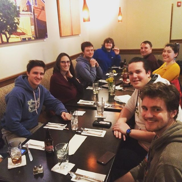 Ending the fall session with a celebratory lunch. Looking forward to new challenges and additional teammates joining for the spring session!