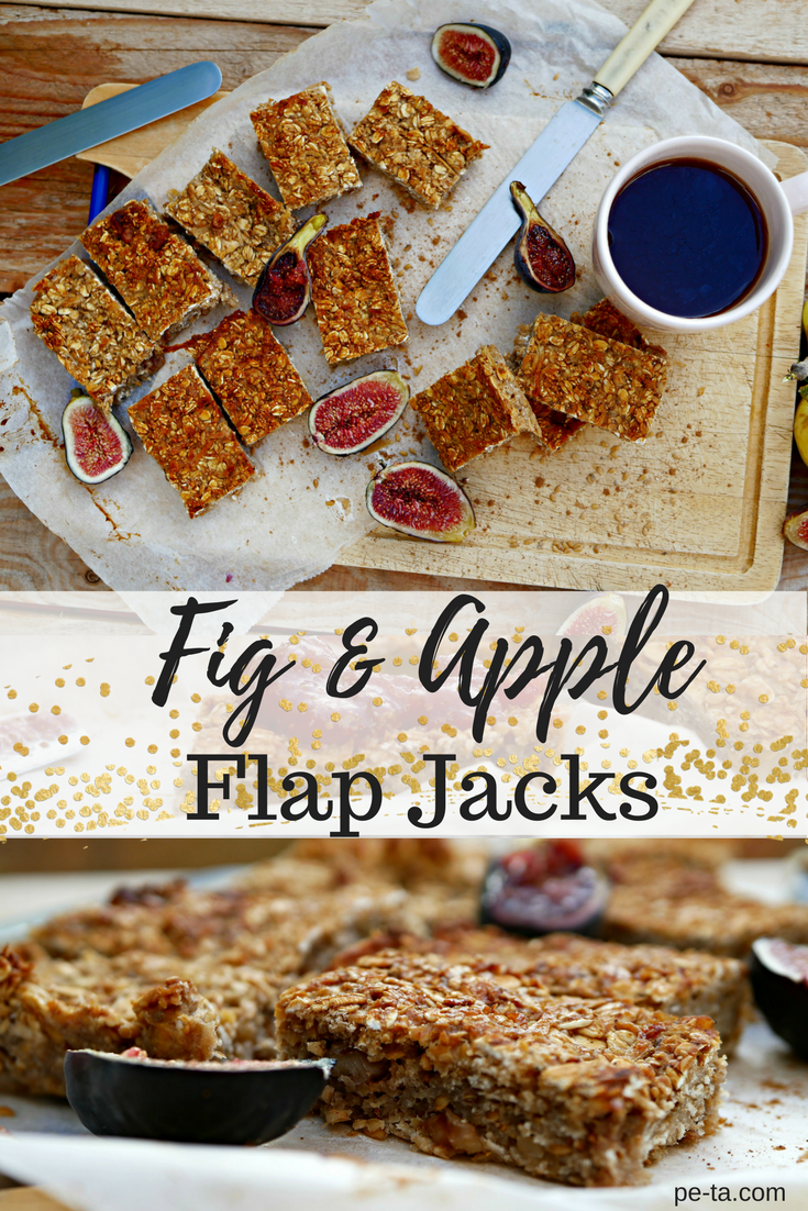 Fig and Apple Flap Jack Recipe from pe-ta.com