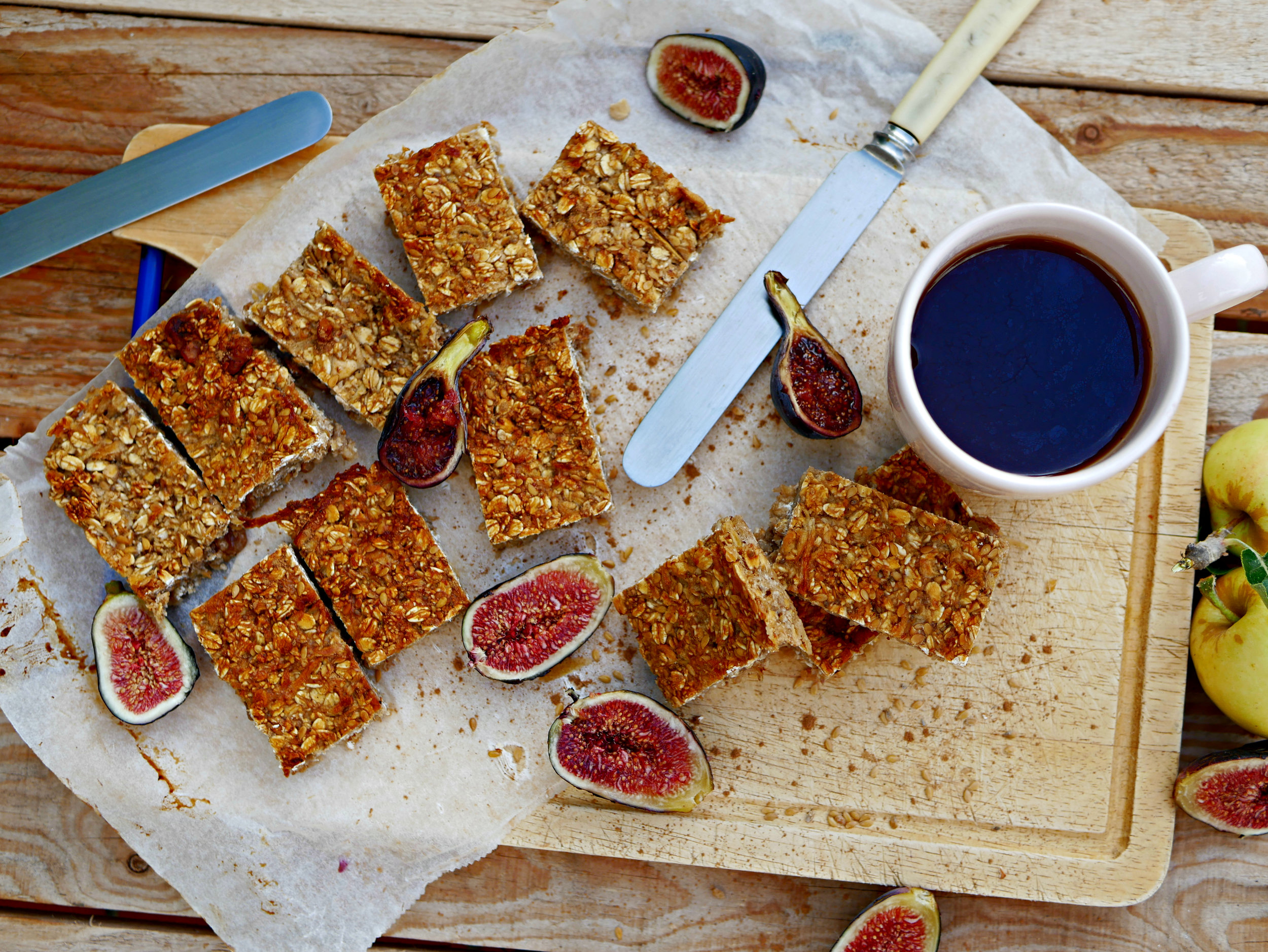 fig and apple flap jacks