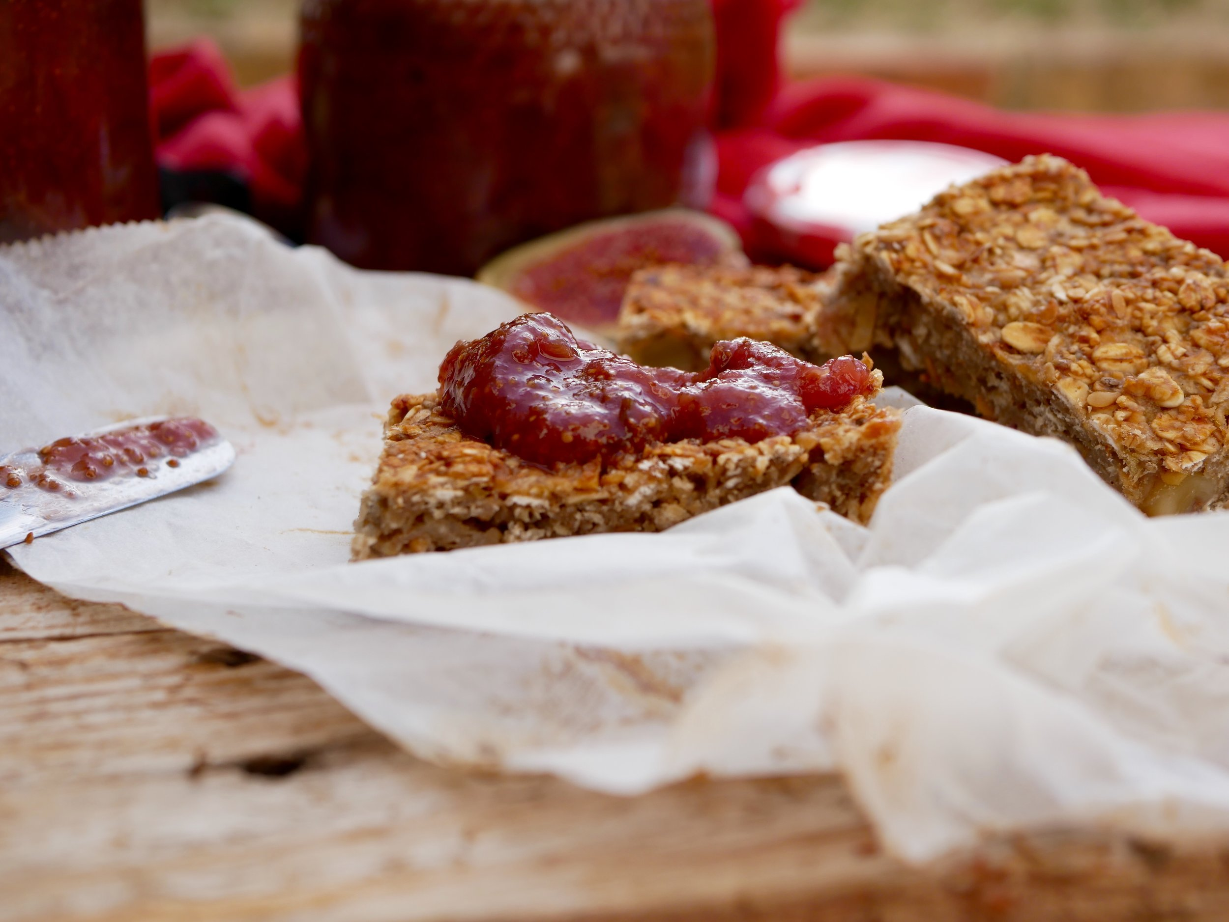 fig jam on flap jack