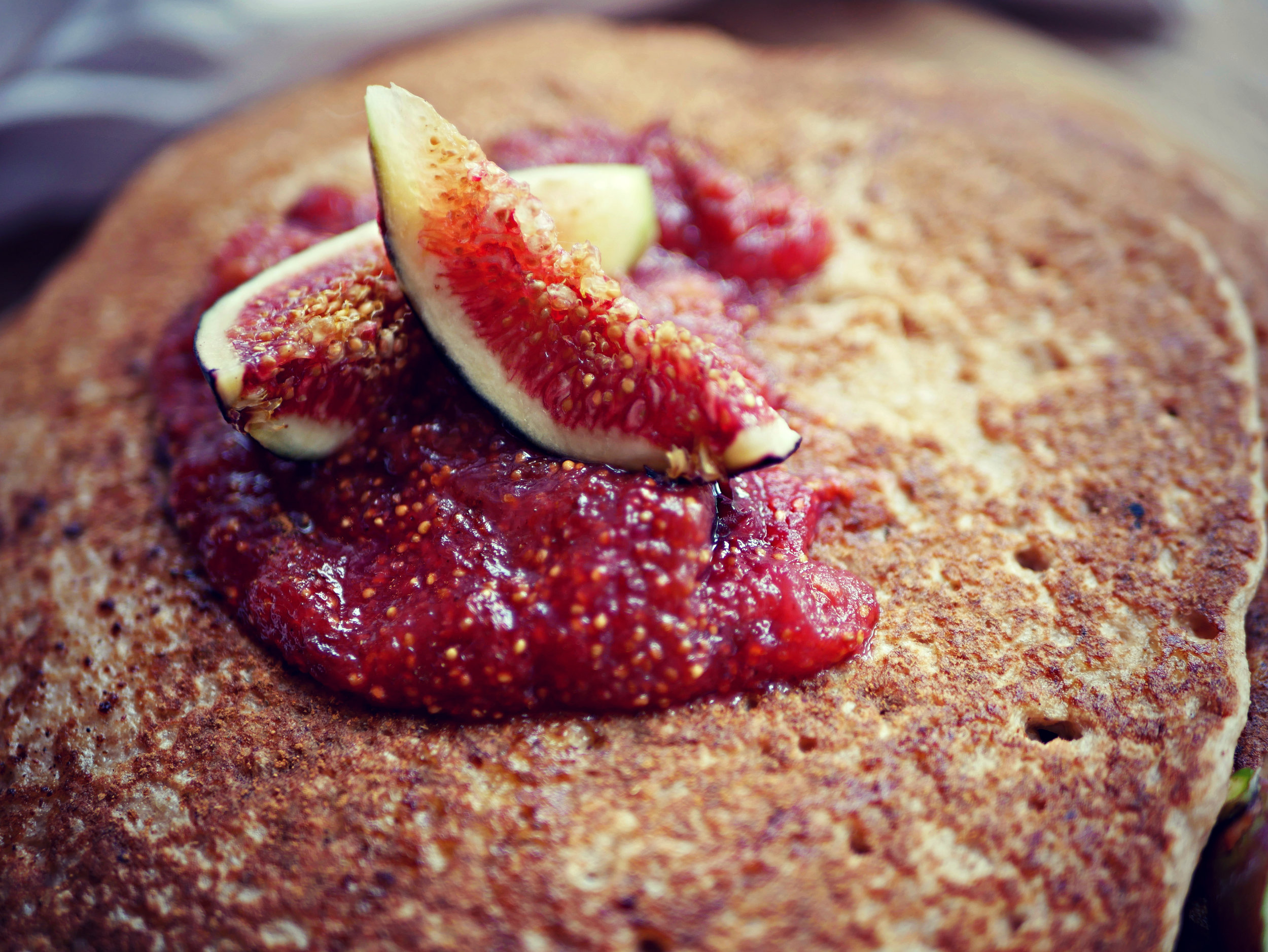 fig jam on pancakes