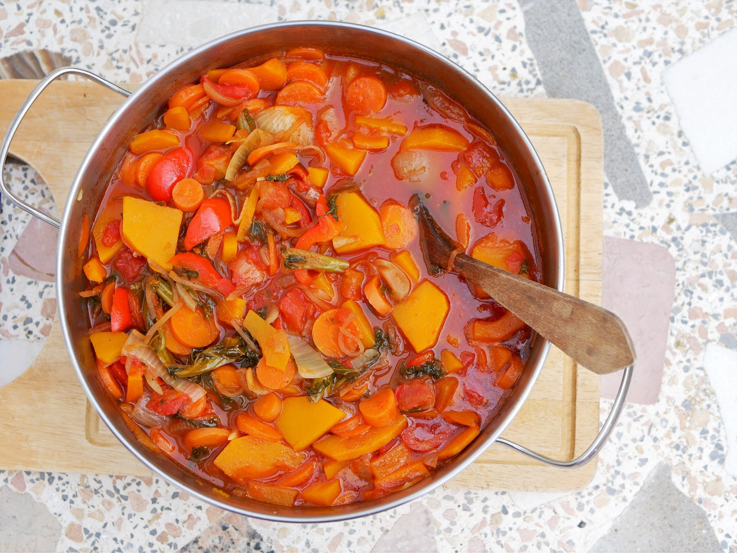 One pot carrot and squash stew