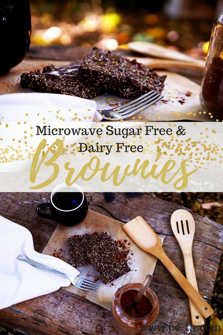 A super simple, microwave brownie recipe which is dairy free and refined sugar free. Super simple, super easy and oh my goodness incredibly delicious.