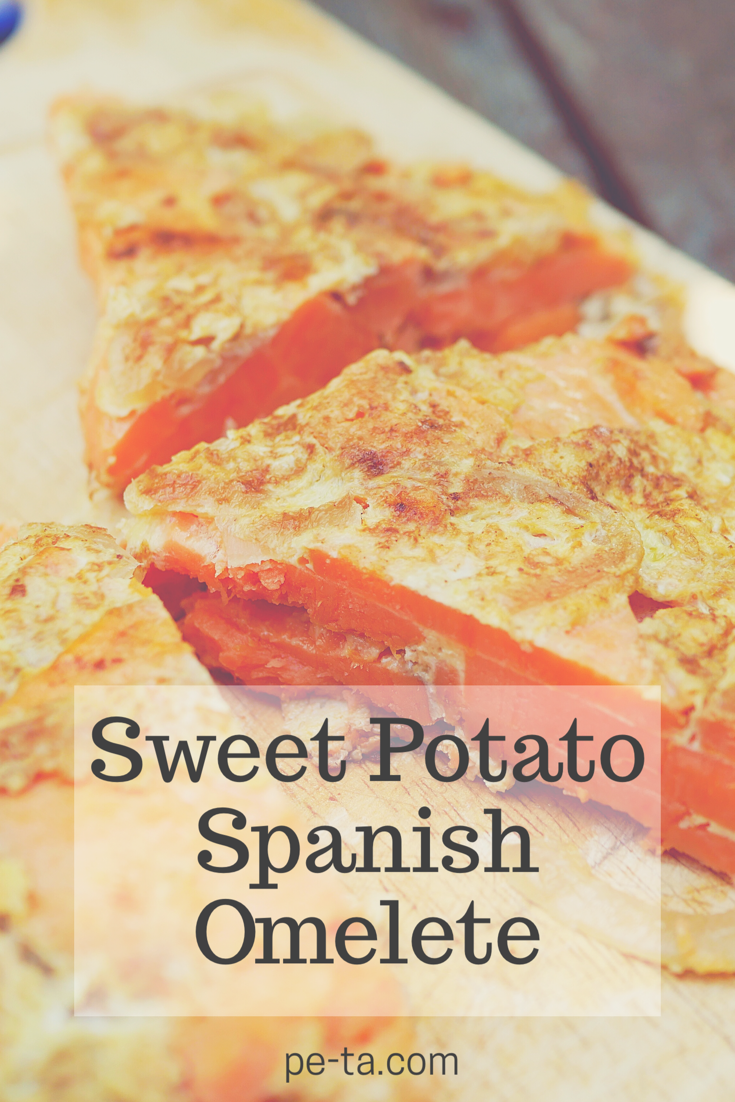 A Sweet Potato Spanish Omelette Recipe from pe-ta.com