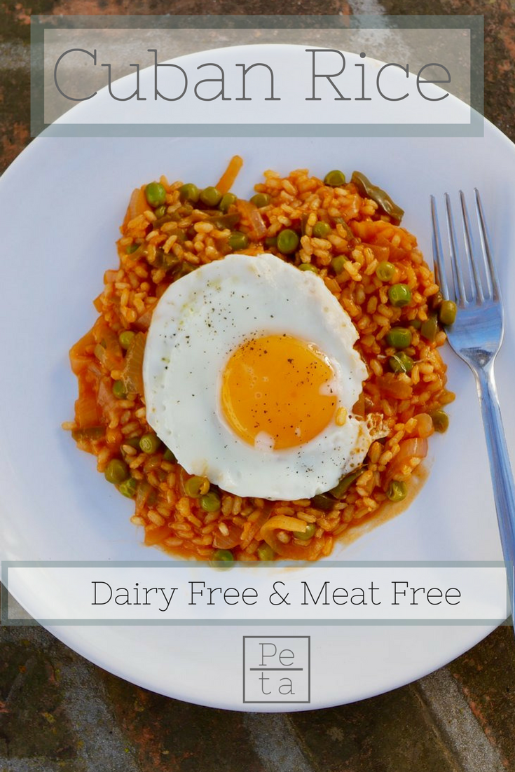 Cuban Rice Recipe - Dairy Free & Meat Free.