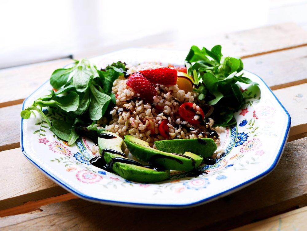 strawberry rice salad