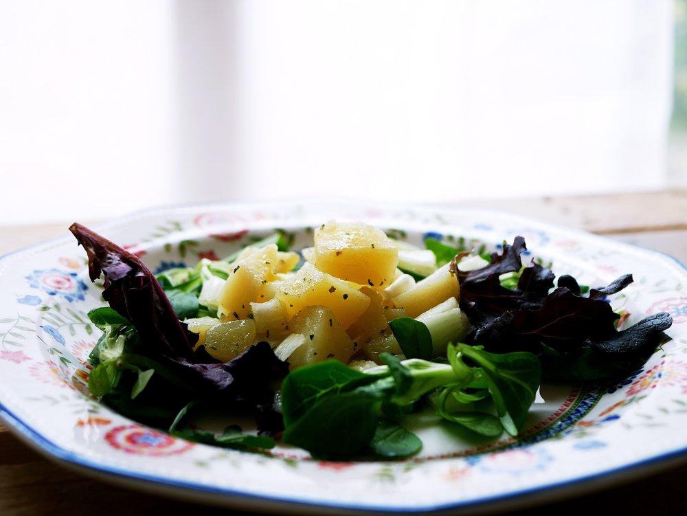 potato salad with parsley