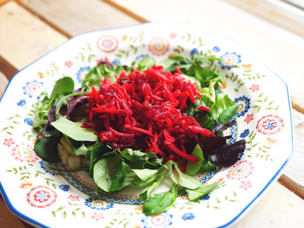 carrot and beetroot slaw