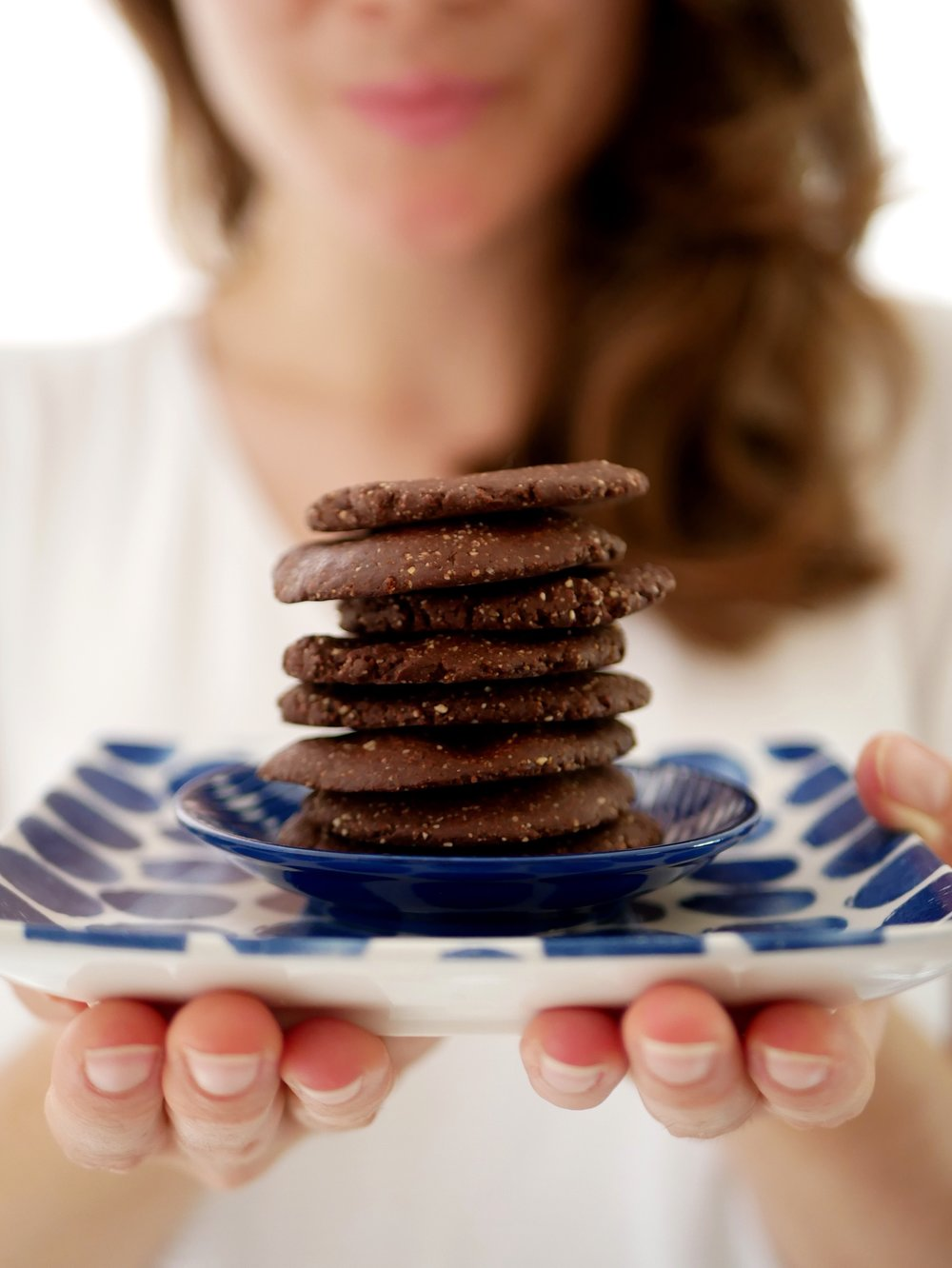 chocolate biscuits on a plate