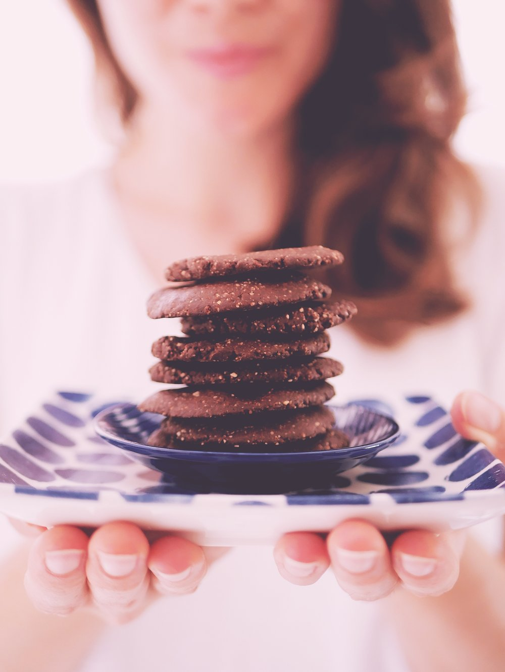 chocolate cookies plate