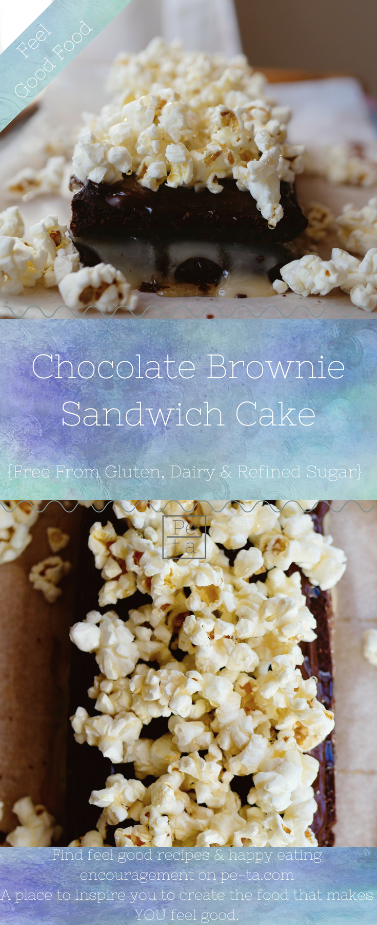 Free From Chocolate Brownie Cake - Gluten Free, Dairy Free & Refined Sugar Free