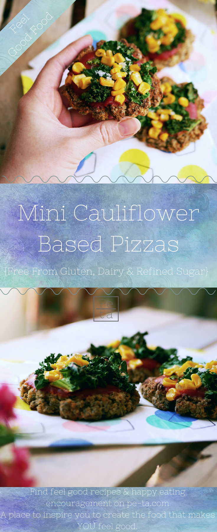 Mini Cauliflower Base Pizzas - Free From Gluten, Dairy & Refined Sugars