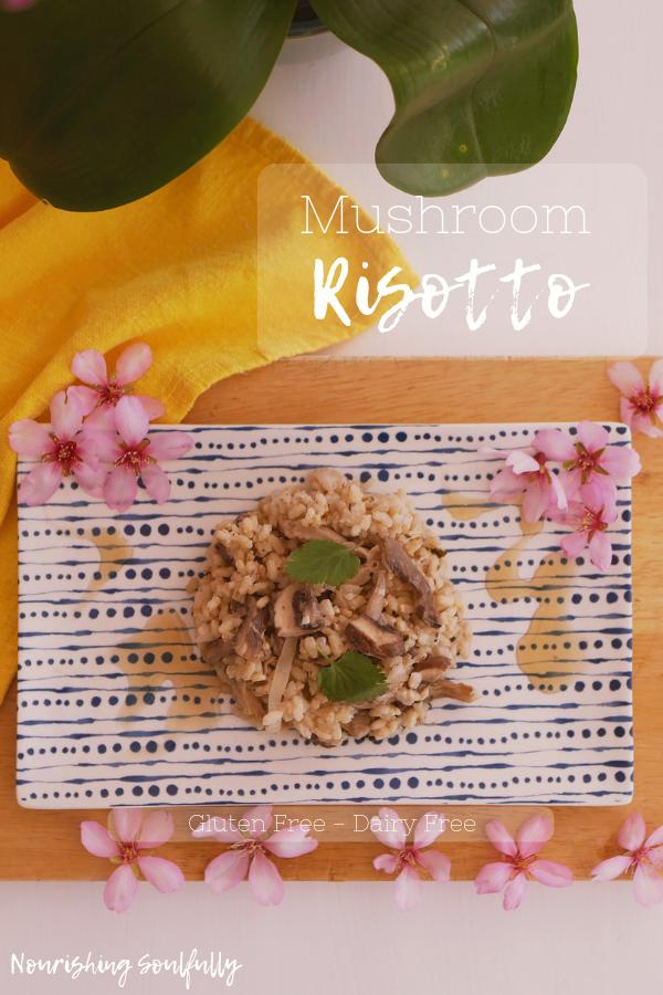 Mushroom Risotto Dairy Free, Gluten Free