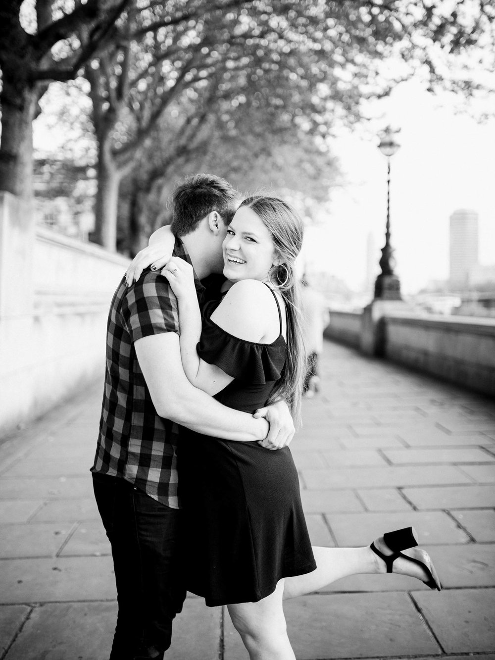 Amy O'Boyle Photography- Destination & UK Fine Art Film Wedding Photographer- London Proposal- Westminster Bridge Big Ben Engagement Shoot-2.jpg